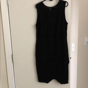 Lovely body on high neck dress with slit Sz 18